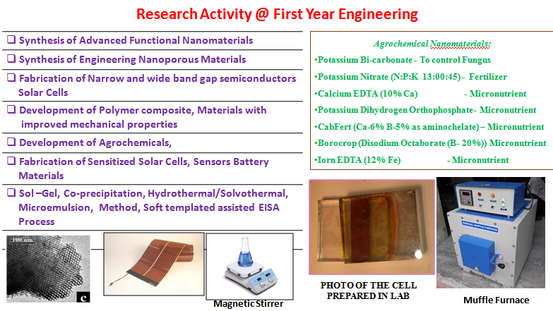 Research Facilities @ Dept. of FE