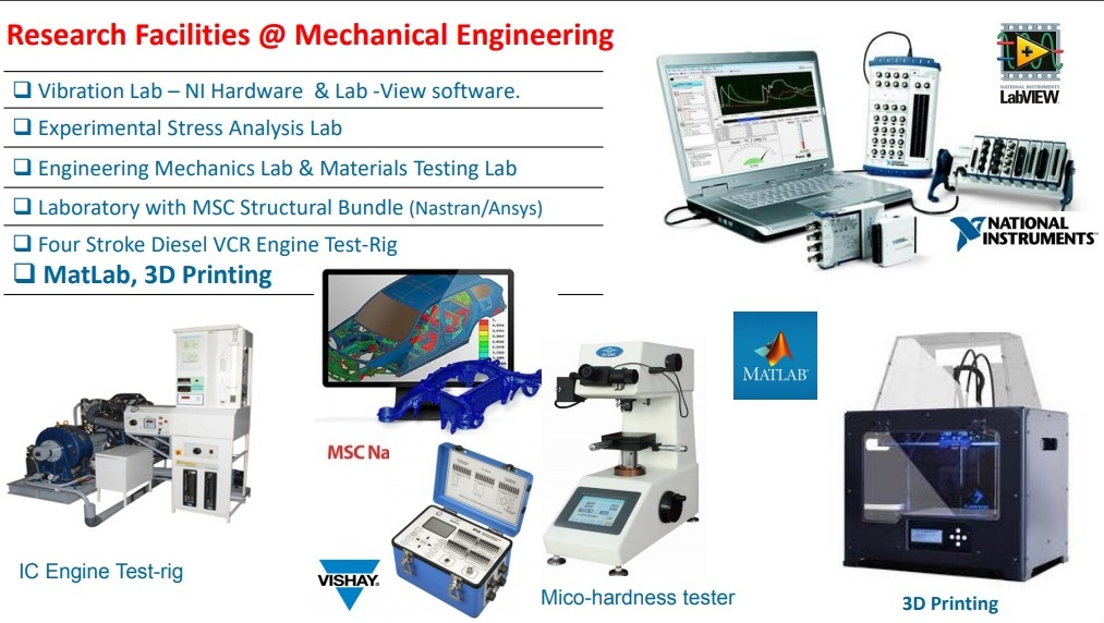 Research Facilities @ Dept. of Mech. Engineering